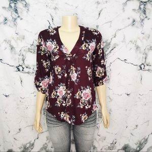 💜3/$25💜 SWS Floral Shirt Women Size Medium